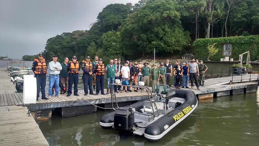 Equipe participante da primeira ação integrada de Fiscalização Ambiental - Câmara Técnica Fiscalização Ambiental do Grupo Pró-Babitonga