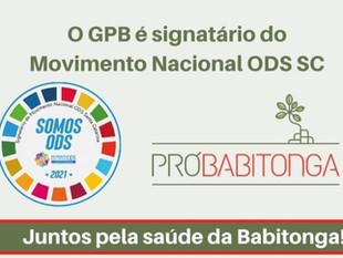 Grupo Pró-Babitonga recebe renovação do selo de signatário do Movimento Nacional ODS SC para 2021