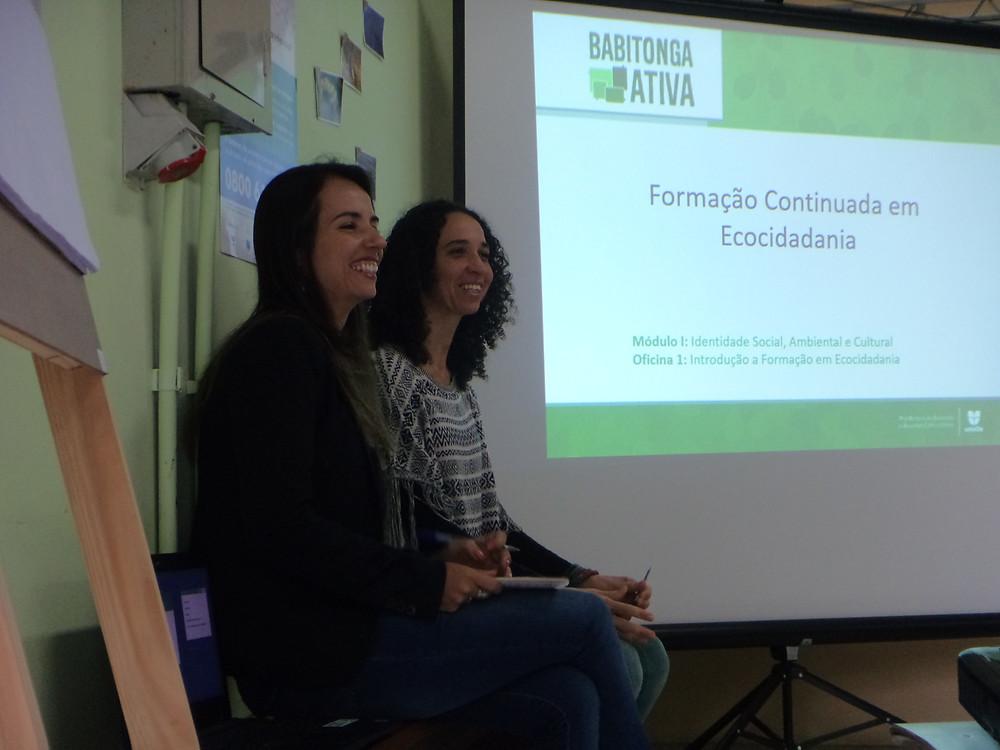 Coordenadoras da FCE, Maiti Fontana e Mirella Cursino