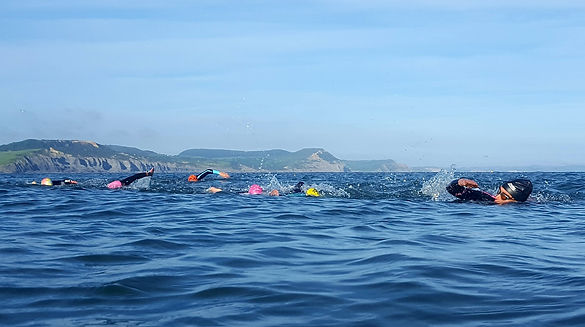 Sea Swimming In Lyme Regis, Dorset