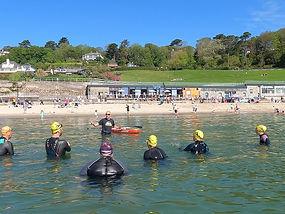 Open Water Swimming Novice Group, Lyme Regis, Dorset