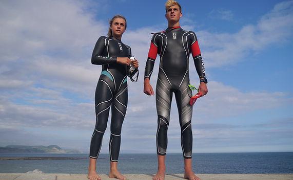 Open Water Swimming Wetsuits, Lyme Regis, Dorset