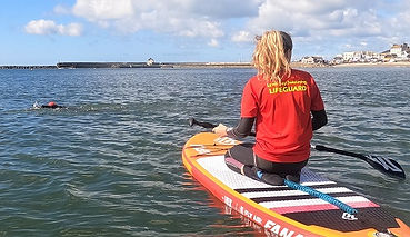 Beginners open water swimming session with Lifeguard in Lyme Regis