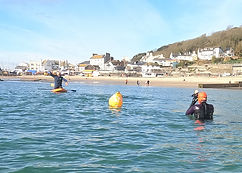 Open water swimming lessons in Lyme Regis 2021