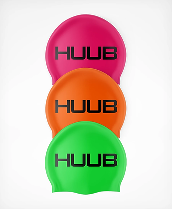 HUUB Silicone Swim Cap - Fluro Orange, Lime, Magenta