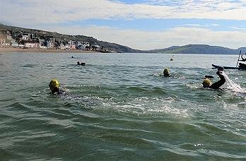 Open Water Swimming Beginners Group, Lyme Regis, Dorset