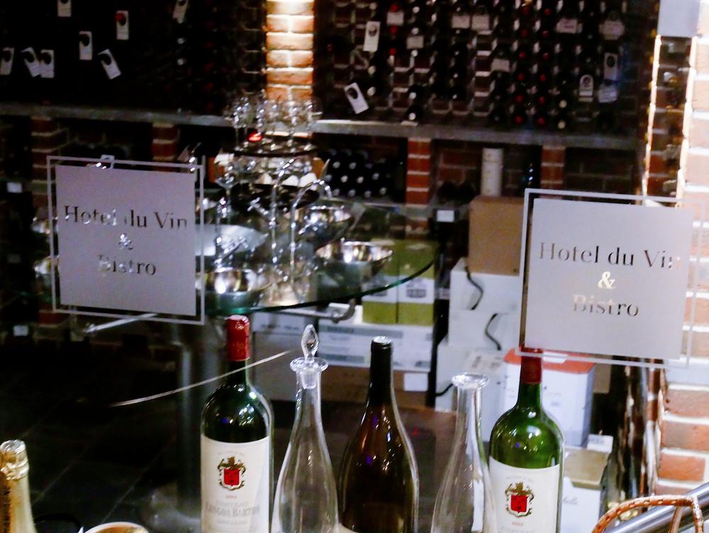 Wine tasting room at Hotel Du Vin