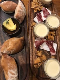 Artichoke Velouté - Goats Cheese - Iberico Ham