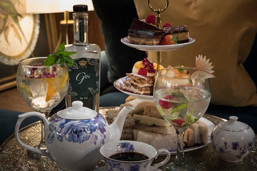 Gin House - Tea and Gin setting