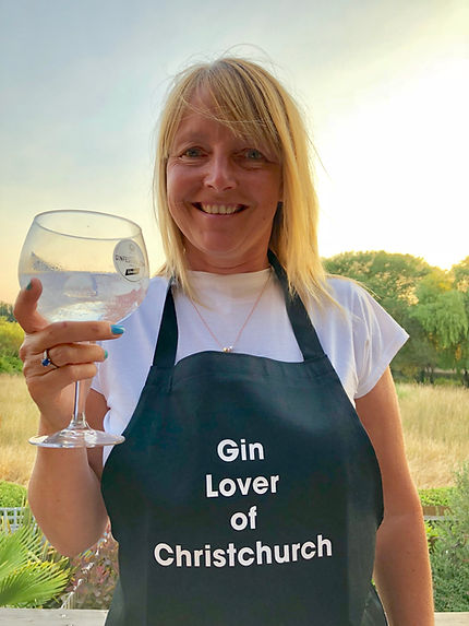 Me in my Christchurch Gin lover apron