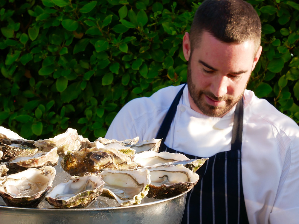 Dorset Oysters served at Upper Deck