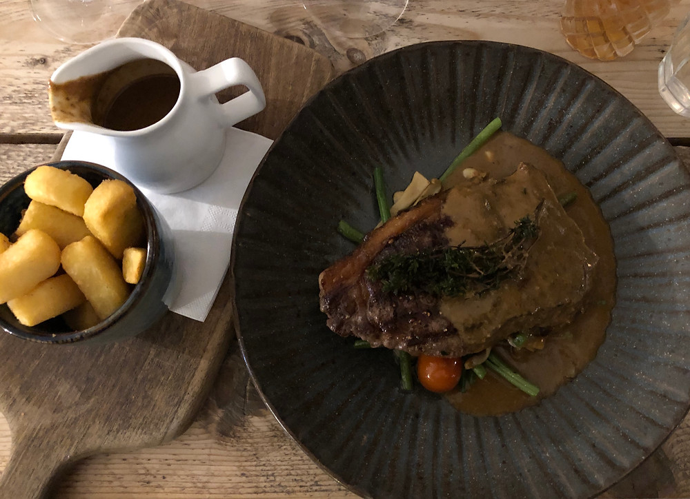 The Cliff House - Steak with peppercorn sauce