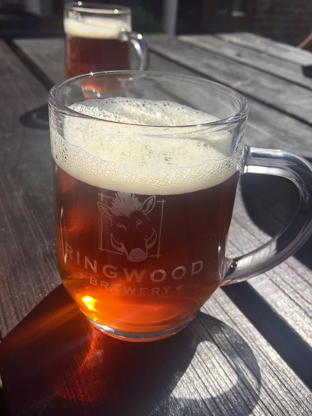 Ringwood Brewery half pint of Razor Back