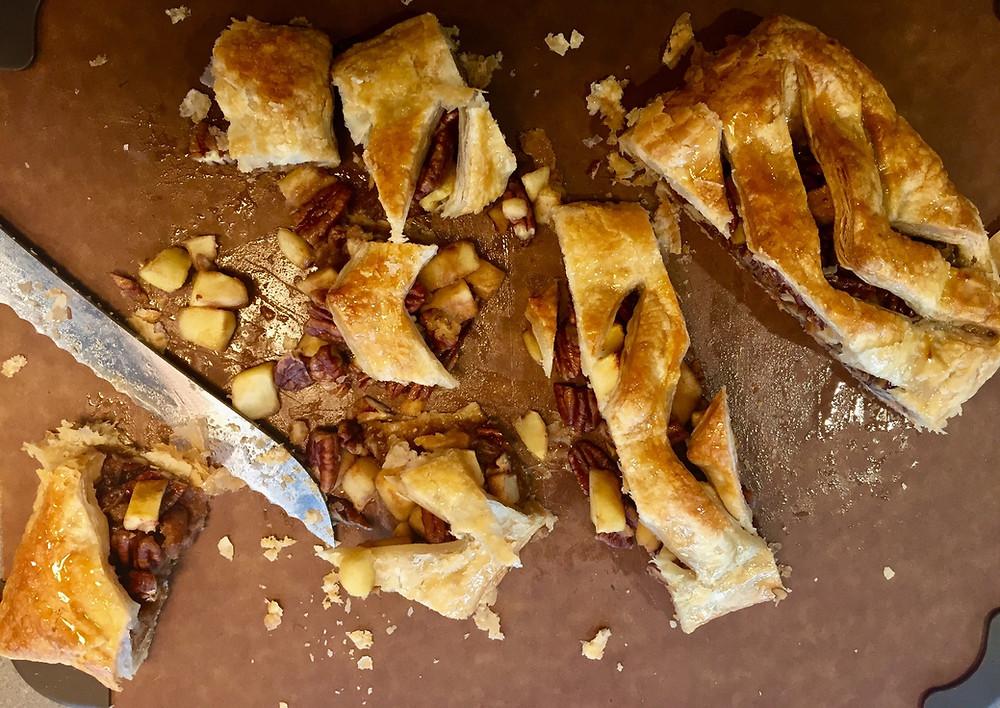 Apple, pecan and maple jalousie