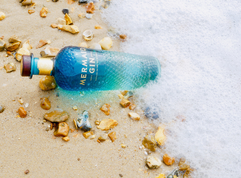 Mermaid Gin washed up on the beach