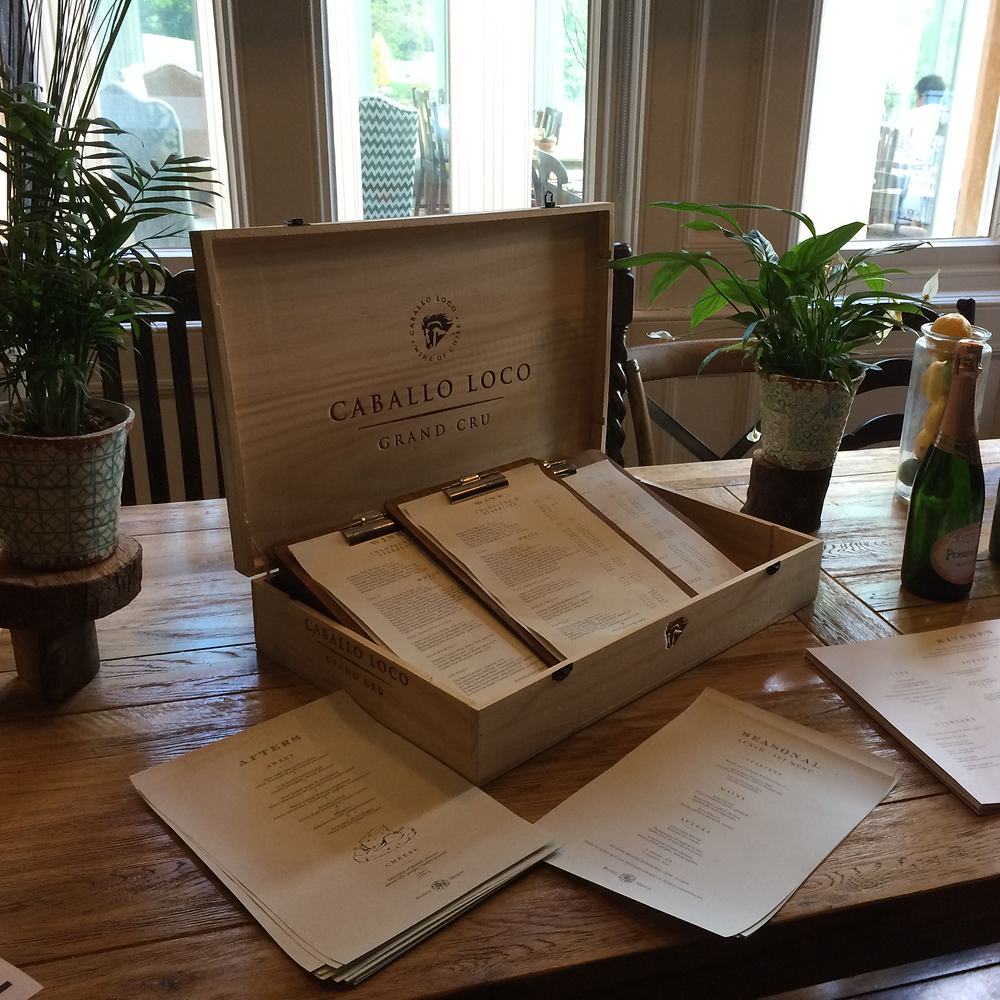 Burley Manor menu table