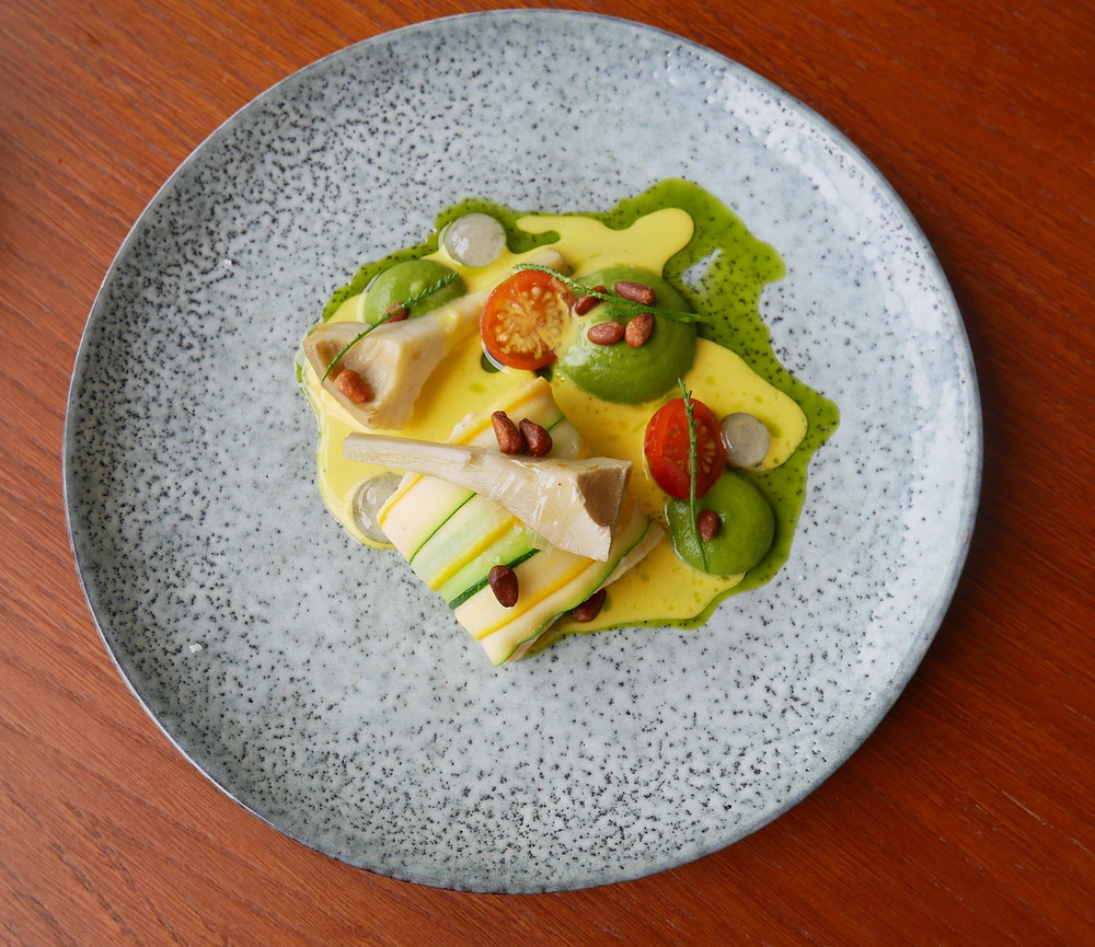Poached Halibut - Roots