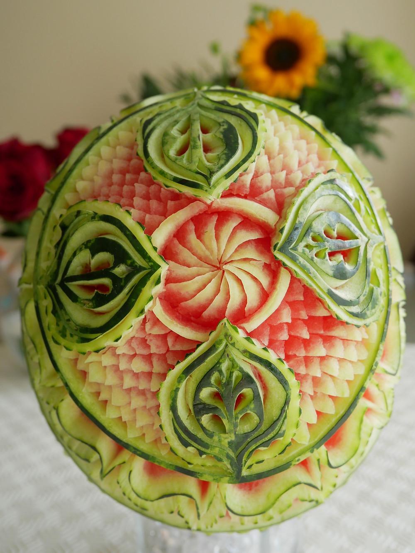 Melon - food sculpture