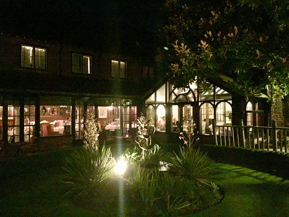 View of The Terrace Restaurant from the garden