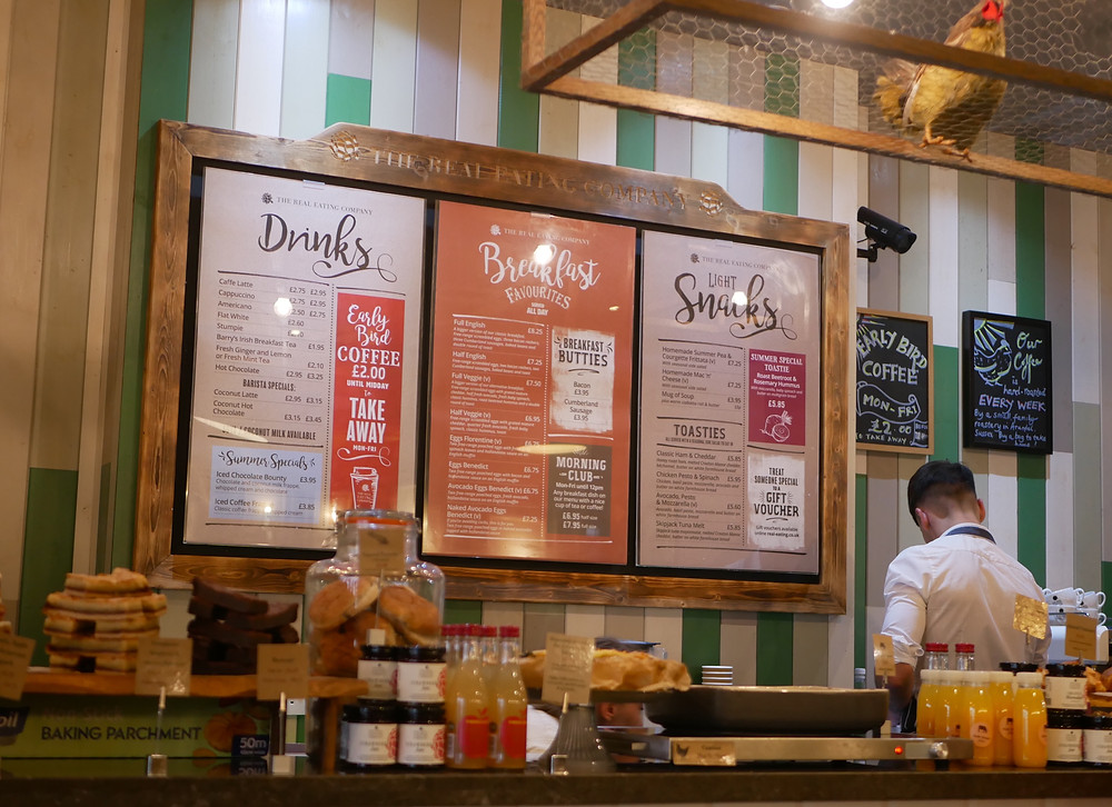 Interior of The Real Eating Company