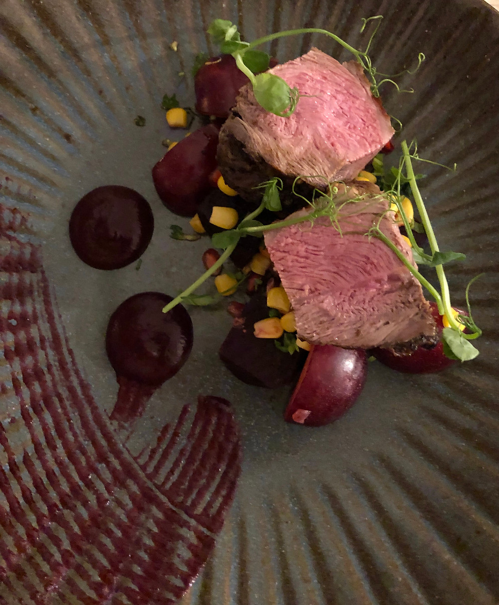 The Cliff House - Lamb Rump with Beetroot