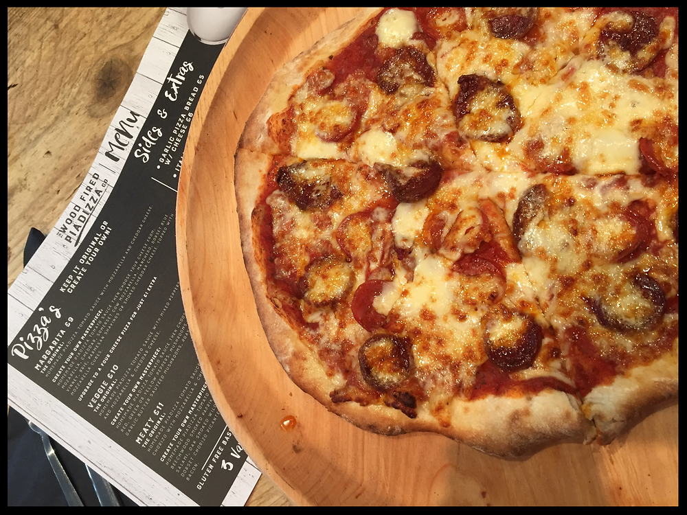 The Wood Fired Piadizza Co. -Meaty pizza