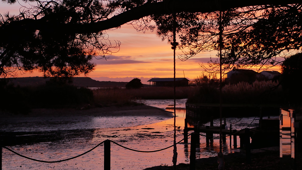 Sunset at Christchurch Harbour Hotel