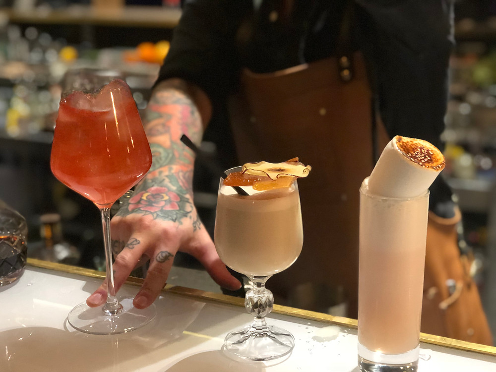 Level 8 Trio of cocktails