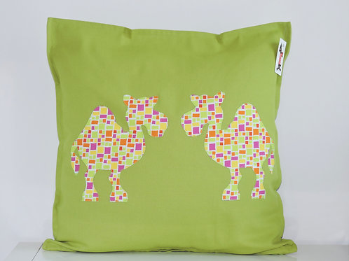 Green Appliqué Camel Cushion