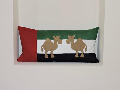 UAE Flag Cushion with Appliqué Camels