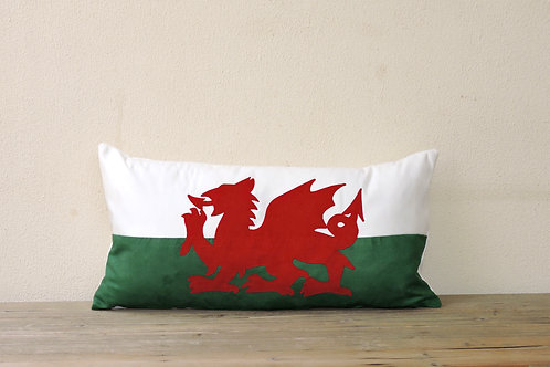 Welsh Flag Appliqué Cushion