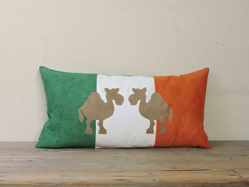 Ireland Flag Cushion with Appliqué Camel