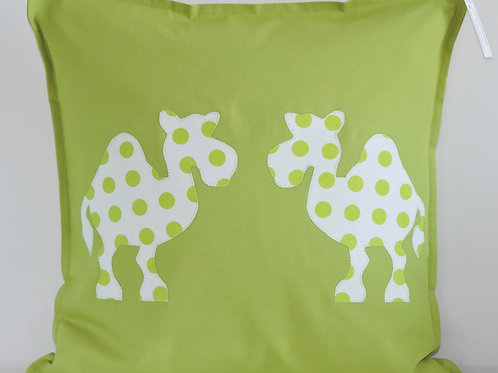 Lime Green Appliqué Camel Cushion