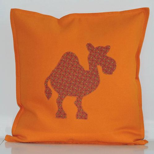 Orange Appliqué Camel Cushion