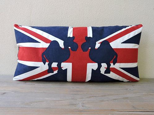 Union Jack Cushion with Appliqué Camels