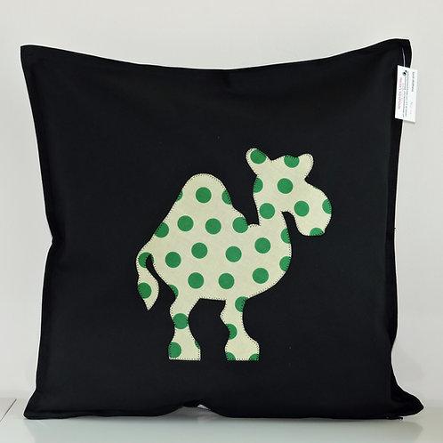 Black Appliqué Camel Cushion