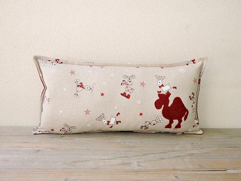 Reindeer Cushion with Appliqué Camel