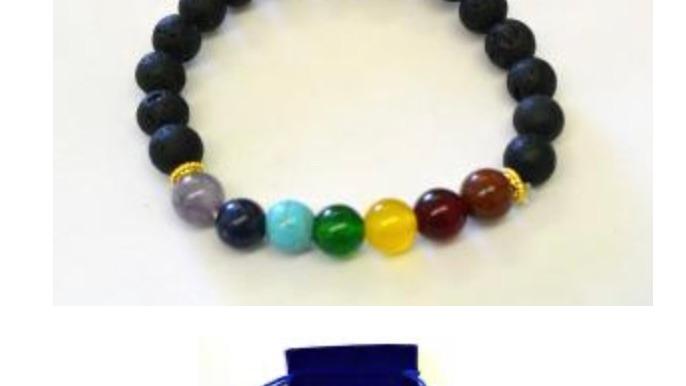 Lava bead 7 chakra bracelet