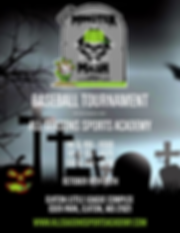 2020 Fall Monster Mash Tournament Flyer