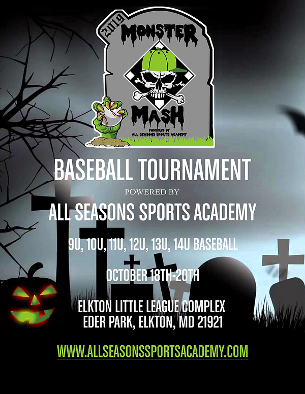 2019 Fall Monster Mash Tournament Flyer