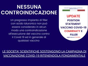 VACCINO COVID-19 COMIRNATY & FILLER: NESSUNA CONTROINDICAZIONE SE SI ADOTTANO PRATICHE PRUDENZIALI