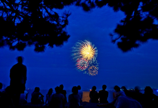 """""""4th of July Fireworks"""" by Marc Monaghan"""