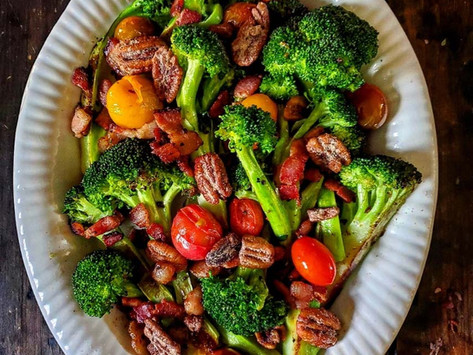 Roasted Broccoli with Maple Pecans Recipe