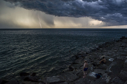 """""""Sunday Thunderstorm at the Point"""" by Marc Monaghan"""