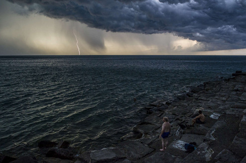 """Sunday Thunderstorm at the Point"" by Marc Monaghan"
