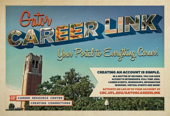 Postcard for Gator Careerlink Services