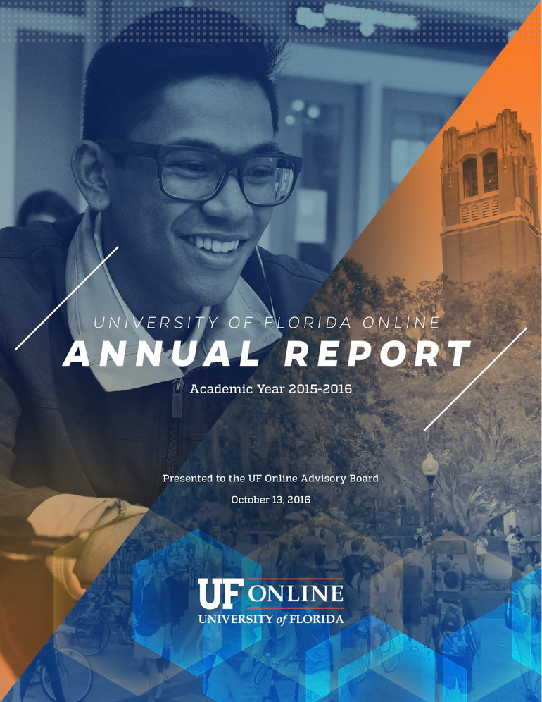 2016 Annual Report for UF Online