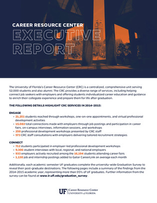 Executive Report for UF Career Connections Center