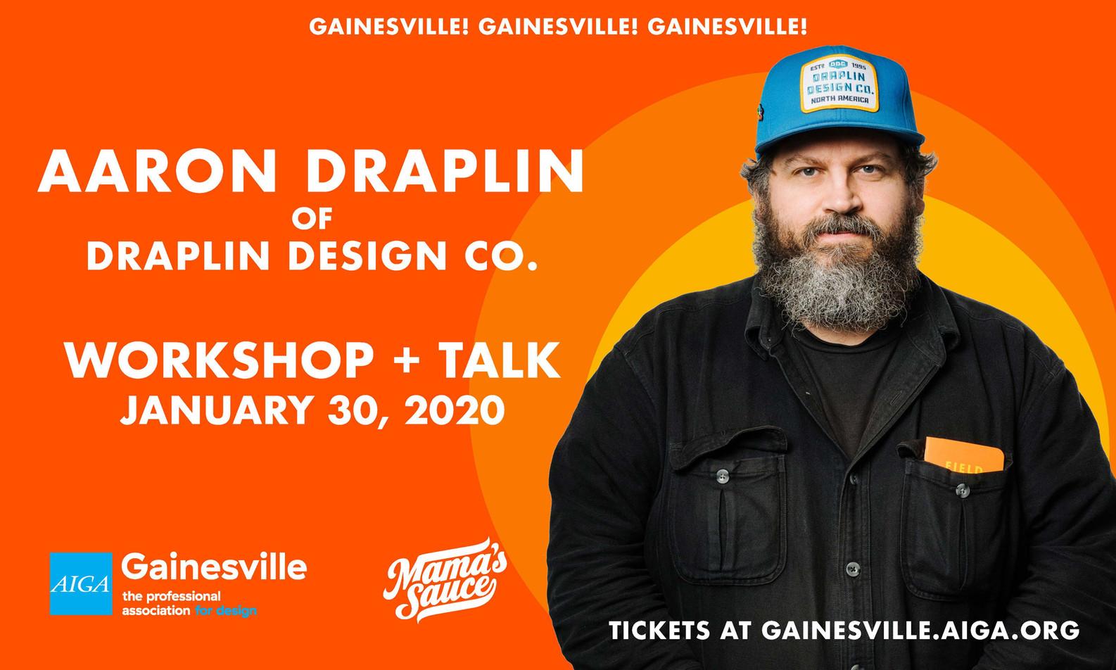 Aaron Draplin & AIGA Gainesville