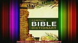 Zondervan's Compact Bible Dic